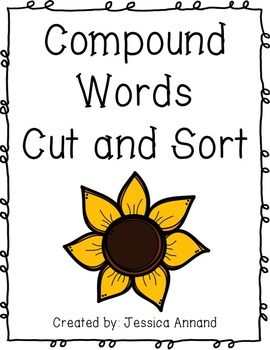 Compound Words Cut and Sort - Words only