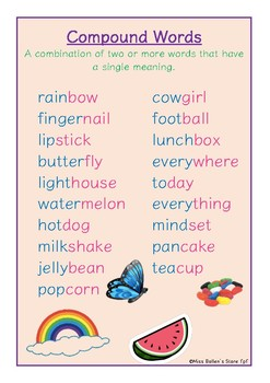 Compound Words Display Poster