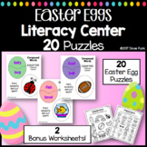 Compound Words - Easter Eggs Literacy Center - 20 Puzzles