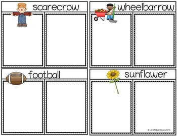 Compound Words Fall Flap Books for K, First Grade or ESL Newcomers!