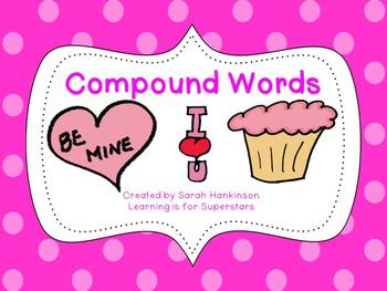 Compound Words {February themed word cards and printables}
