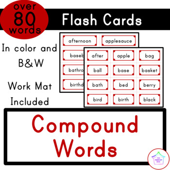 Compound Words - Flash Cards (with Work Mat)