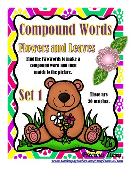 Compound Words - Flowers and Leaves - Set 1