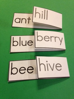 Compound Words Fold-Over Flashcards Set