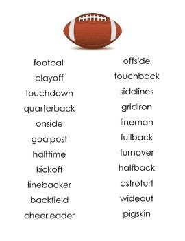 Compound Words - Football
