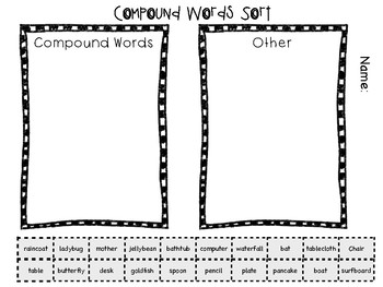 Compound Words (Free!)
