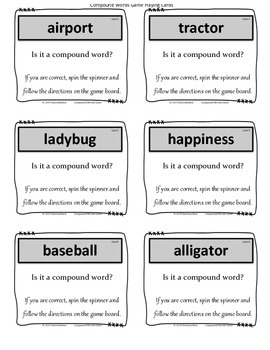 Compound Words Game
