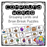 Compound Words Grouping Cards and Brain Builder Puzzles