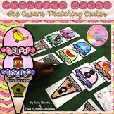 Compound Words-Ice Cream Matching Literacy Center