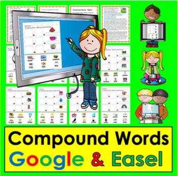 NEW PRODUCT DISCOUNT:  Compound Words: Interactive Digital for Google Slides