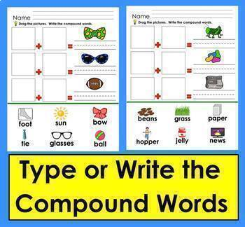 Compound Words: Interactive Digital for Google Slides