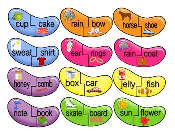 Compound Words Jellybean Match-Up