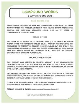 Compound Words {Literacy Activity}
