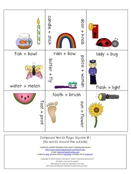 Compound Words Centers | Compound Words Activities | Compound Words Games