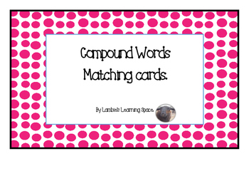 Compound Words Match Up Game