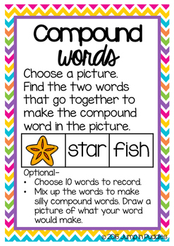 Compound Words Matching Activity