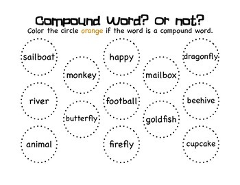 Compound Words: Matching, Building, Writing, and Word Searching Activities