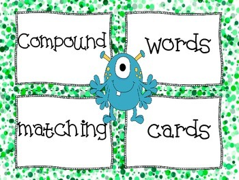 Compound Words Matching Cards