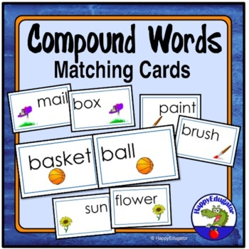 Compound Words Matching Task Cards - Compound Nouns