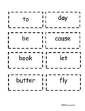 Compound Words Matching Cards Game