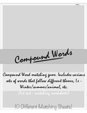 Compound Words Matching Game! :D