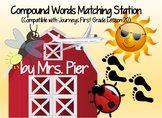 Compound Words Matching Station (Compatible with Journeys First Grade Lesson 20)