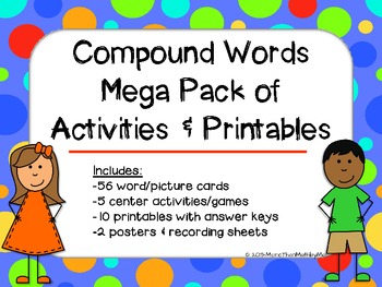 Compound Words Mega Pack of Activities and Printables {ali