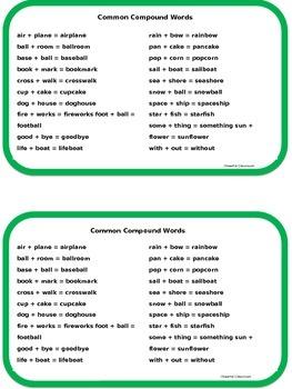 Compound Words Mini-Book Common Core Aligned