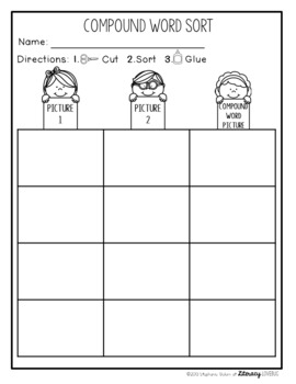 Compound Words Activities: No Prep to Low Prep