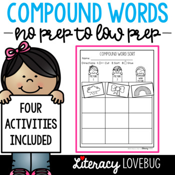 Compound Words No Prep and Low Prep Activities