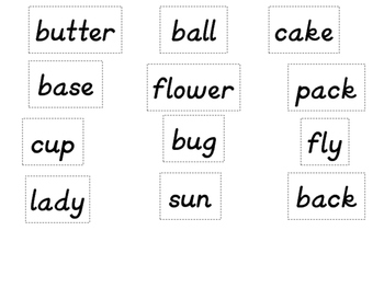 Compound Words Pack for primary students