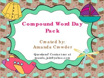 Compound Words Pack of Activities