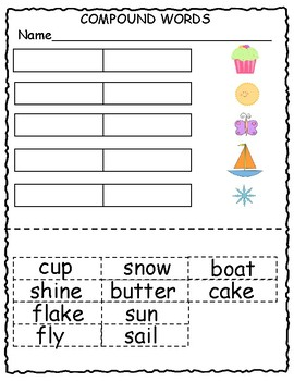 Compound Words Worksheets and Activities