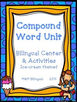 Compound Words- Palabras Compuestas *Bilingual Center & Activities*