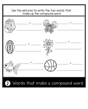 Journeys Officer Buckle and Gloria | Compound Words | Phonics Flip Book