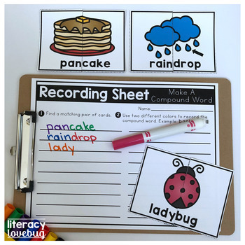 Compound Words Picture Cards