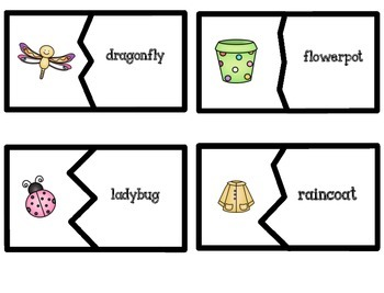 Compound Words {Picture Cards, Break Apart Cards, & Worksheets with a Twist}