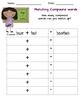 Compound Words: Picture Cards-Puzzle Pieces-Matching Pairs