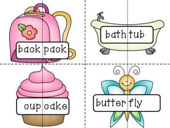 Compound Words Activities: Picture Cards and Puzzles