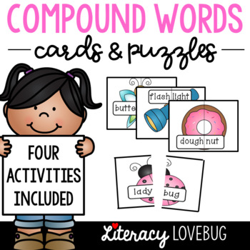 Compound Words Activities with Picture Cards and Puzzles
