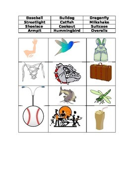 Compound Words Picture Word Sort #3