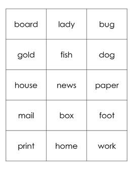 Compound Words Picture Match Activity