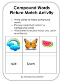 Compound Words Picture Match Activity