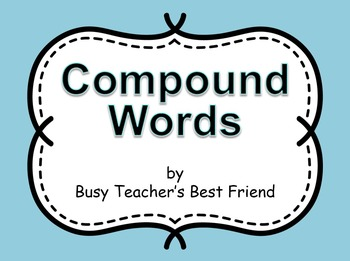 Compound Words PowerPoint Presentation with Fun Animation