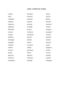 Compound Words Practice