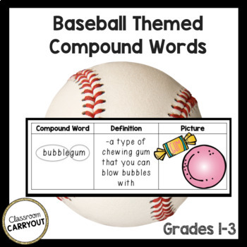 Compound Words BASEBALL by Classroom Carryout | Teachers Pay Teachers
