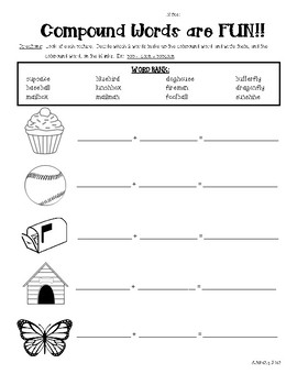 Compound Words Practice Worksheet