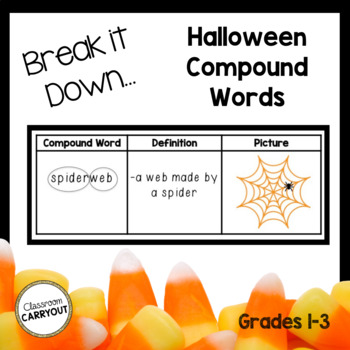 Compound Words Practice: Halloween Themed Words