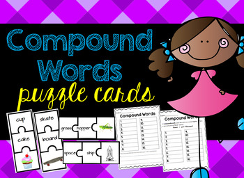 Compound Words Puzzle Cards