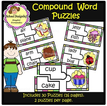 Compound Words  Puzzle Cards (School Designhcf)